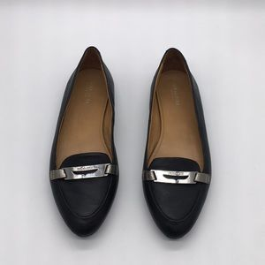 Coach Black Leather Ruthie Ballet Flats Size 7